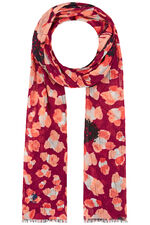 Akel Abstract Butterfly Print Scarf