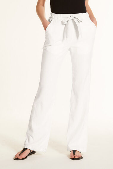 722541964b54 Linen Blend Wide Leg Trousers