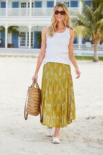 Printed Tiered Crinkle Skirt