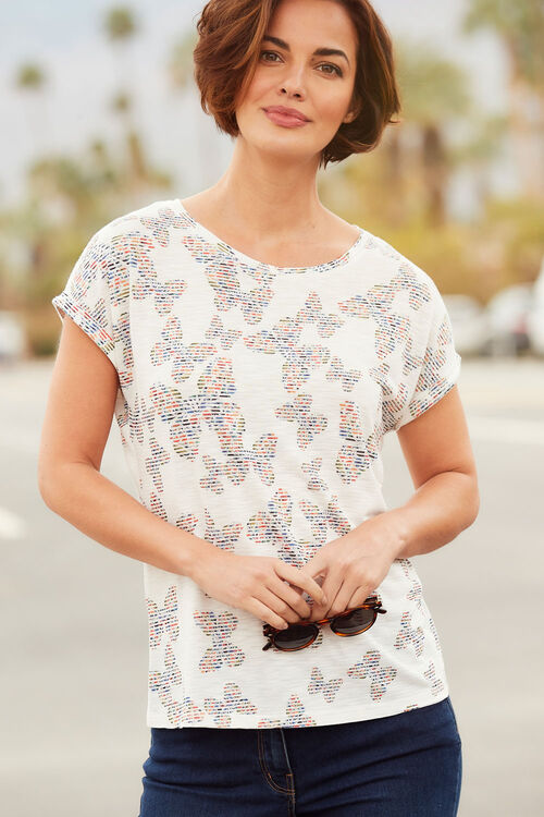 Butterfly Print Jersey Top
