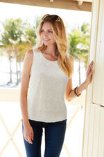 Sleeveless Lace Top With Jersey Back