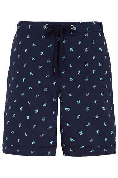 Boat Print Essential Cotton Shorts