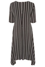 Striped Knot Front Dress