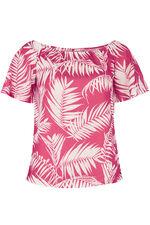Palm Print Gypsy Top