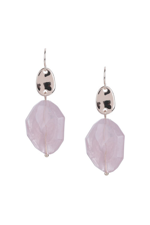 Muse Pink Stone Drop Earring