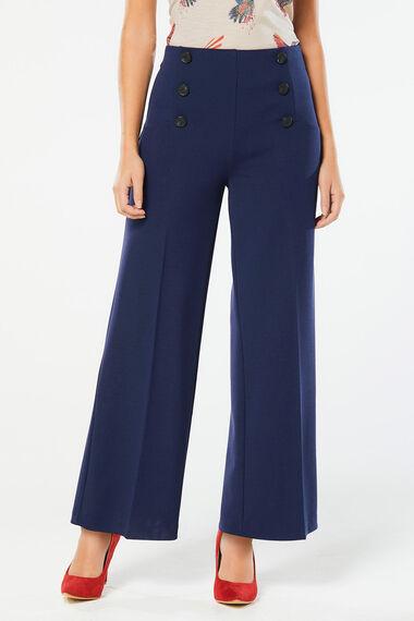 Scuba Crepe Wide Leg Trouser