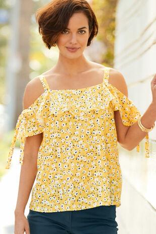 Ditsy Floral Bardot Top