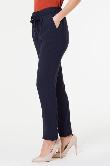 Tie Waist Crepe Trouser
