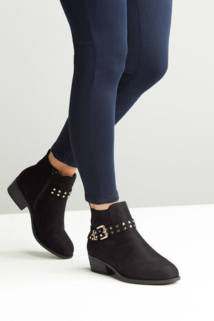 Comfort Plus Stud and Buckle Boot
