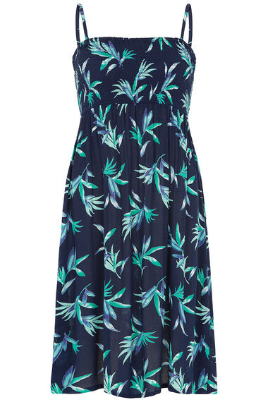 Leaf Print Multiway Beach Dress