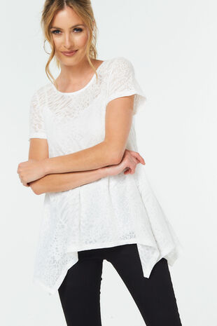 Hanky Hem Blouse with Cami