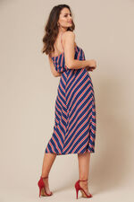 Grace By Eda Diagonal Stripe Button Through Skirt