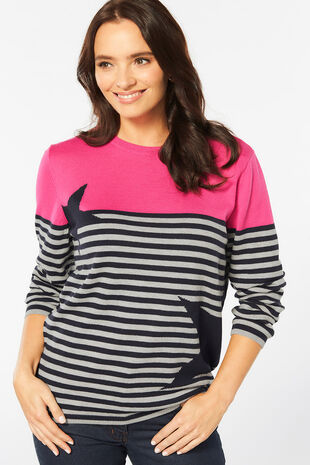Supersoft Stripe Star Jumper