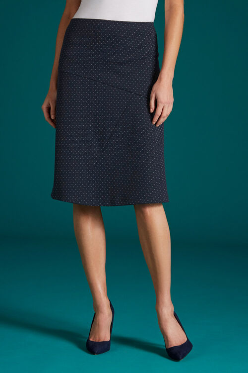 Pin Dot Flippy Skirt