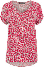 Ditsy Floral Print V-Neck Top
