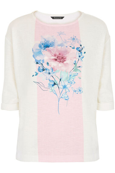 Placement Print Textured Sweat