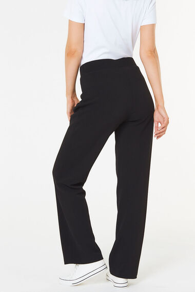 Textured Straight Leg Trouser