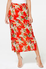 Tropical Print Tube Skirt