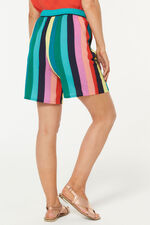 Stripe Crepe Short