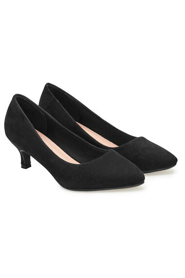 Comfort Plus Kitten Heel Shoe