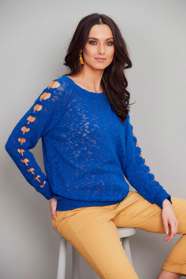 Join Us Sleeve Detail Jumper