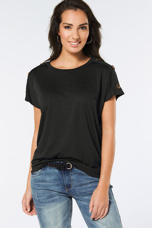 Button Longline Top