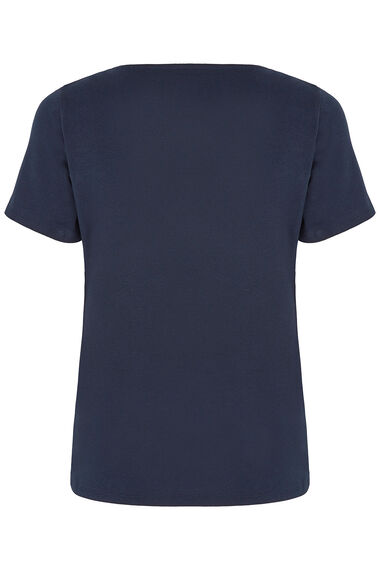 Notch Neck Plain T-Shirt