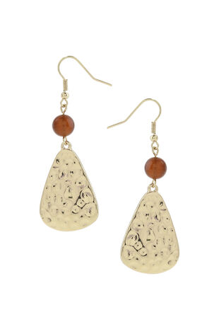 Muse Hammered Drop Earring