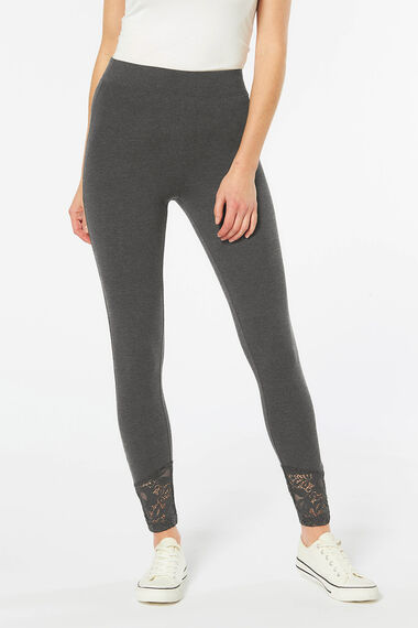 Lace Hem Detail Legging