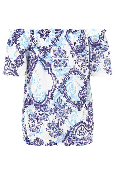 Tile Printed Gypsy Top