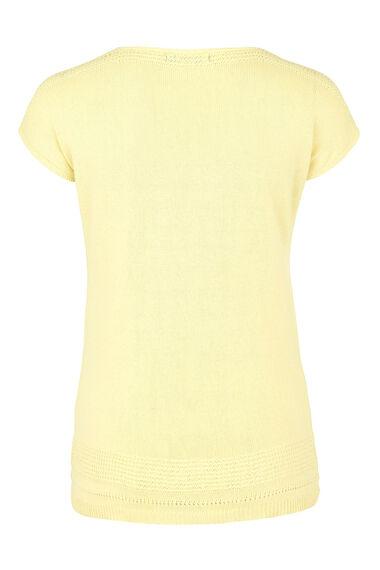 Short Sleeve Jumper With Linen