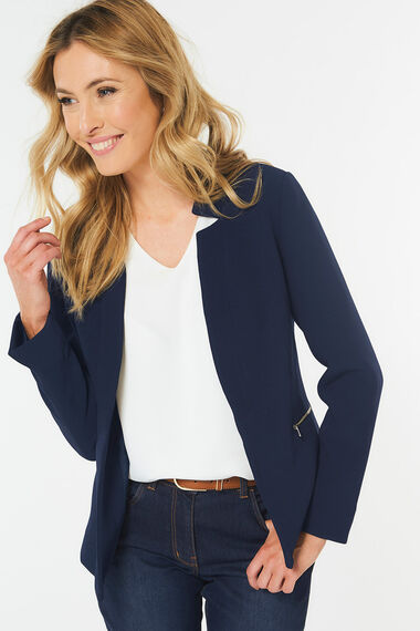 Textured Jacket With Zips