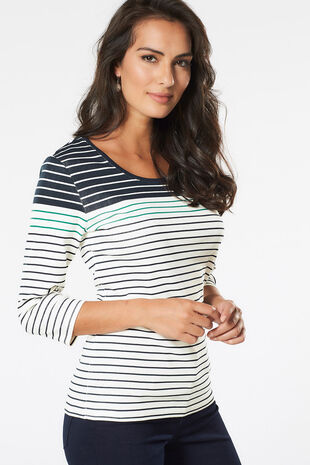 Gradient Printed Stripe T-Shirt