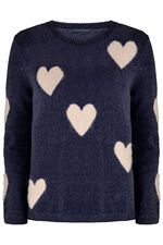 Chenille Heart Jumper