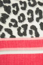 Textured Animal Print Scarf