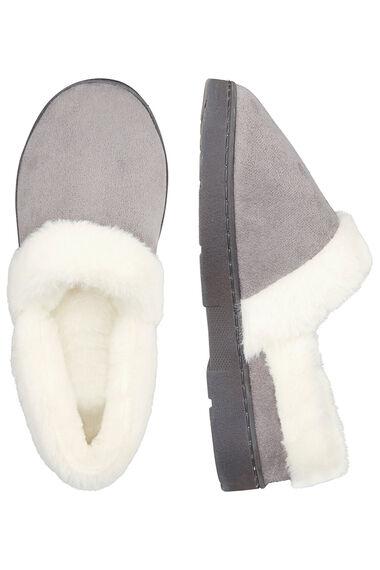 Fur Trim Full Slipper