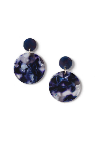 Muse Blue Resin Drop Earrings
