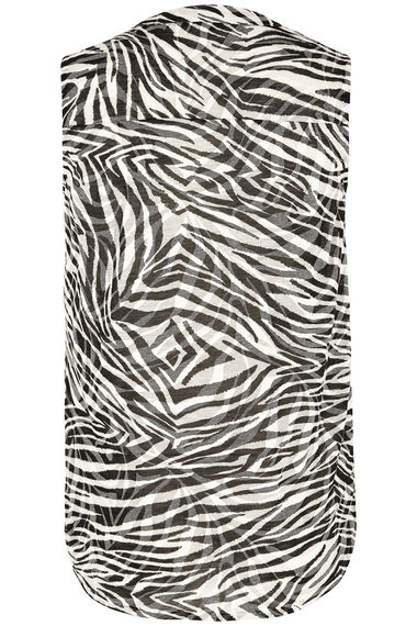 Zebra Print Sleeveless Shirt