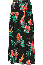 Tropical Skirt Dress With Tassels