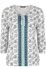 Cotton Modal Contrast Panel T-Shirt