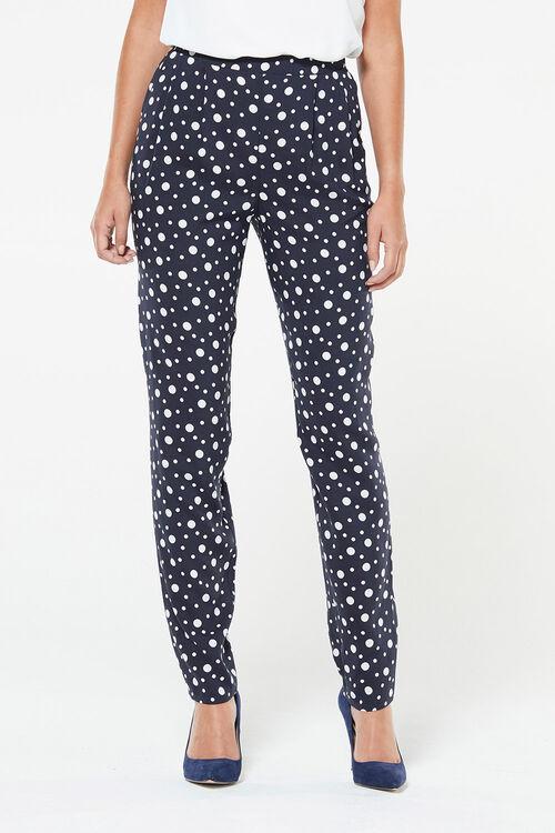 Spot Print Harem Trousers