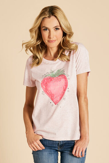 Strawberry Print T-Shirt