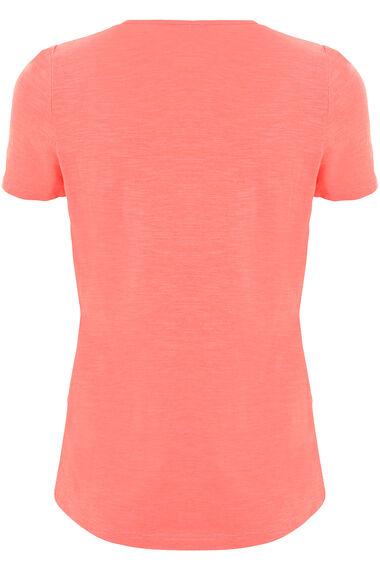 Embroidered Bib Tassle Tie T-Shirt