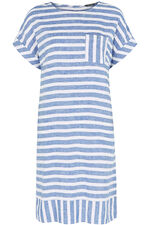 Striped Linen Blend Tunic Dress