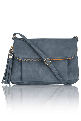 Tassel Detail Cross Body Bag