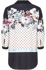 Floral Print Textured Shirt
