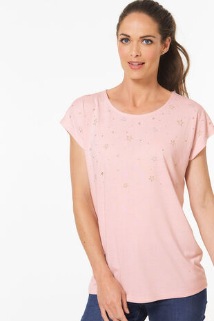 Star Embroidered T-Shirt