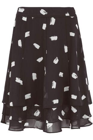 4b819bf11dd Chiffon Smudge Spot Skirt