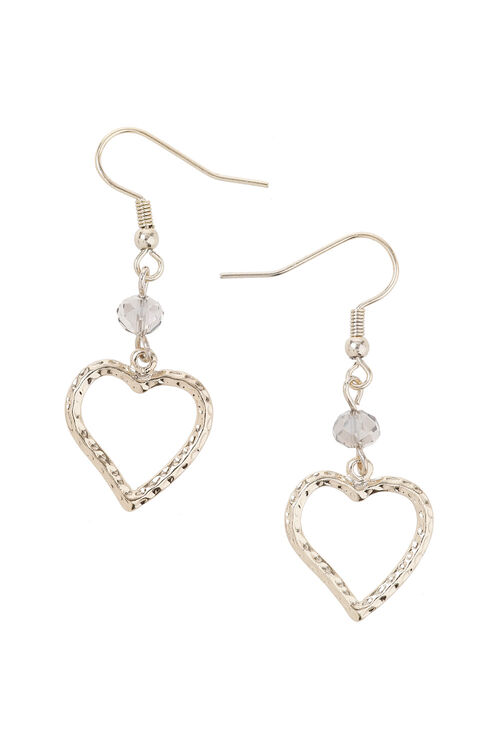 Muse Organic Heart Drop Earring