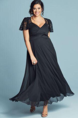 Scarlett & Jo Eva Lace Sleeve Detail Maxi Gown